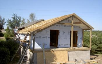 extension ossature bois prêt à barder,prêt à couvrir