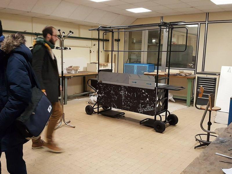 Nous sommes acceptés à l'incubateur ENSAM dans Paris...déménagement en mars ! Ici l'atelier de ouf