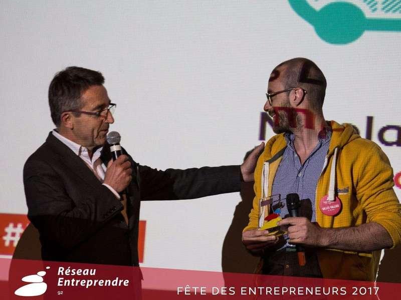 Remise des prix de la Fête des Entrepreneurs du Réseau Entreprendre 92 : K-Ryole obtient le Trophée Coup de Coeur, décerné par Auchan Retail