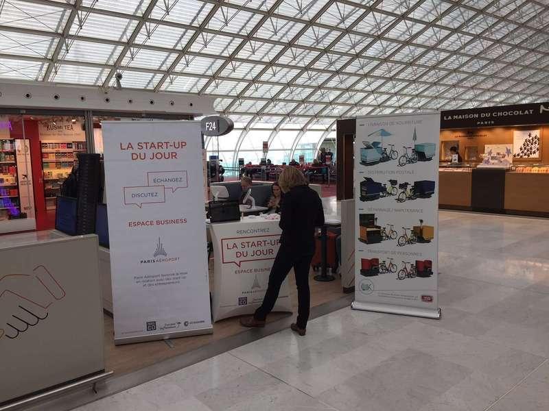 Startup du Jour à l'espace Business de l'aéroport Roissy Charles-de-Gaulle