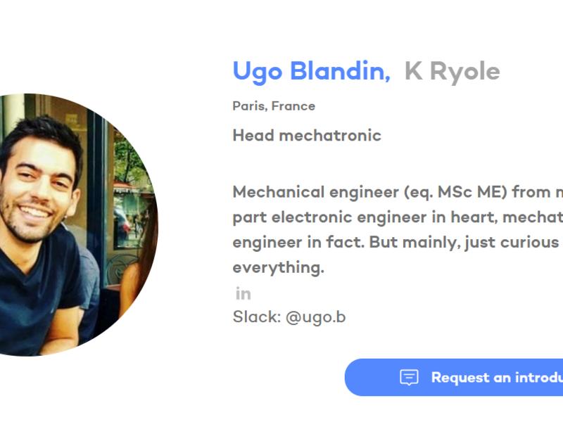 Ugo est vraiment adapté au monde des startups :-) ! Bienvenue au Hardware Club